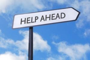 help-ahead-signpost